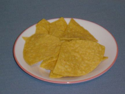 Homemade Tortilla Chips Served in a Plate