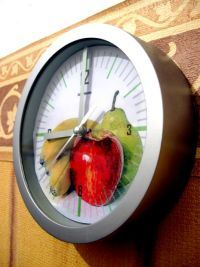 Kitchen Clock with Fruits Design