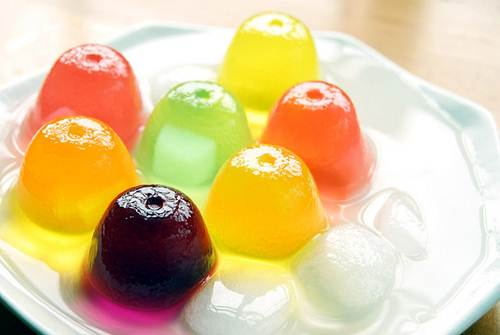 Colorful Jell-O (Sweet Jelly) Gelatin Pudding