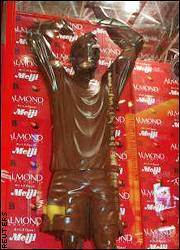 David Beckham Statue Made of Chocolate