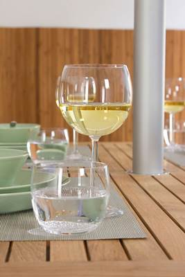 White Wine in Alessi Wine Glass