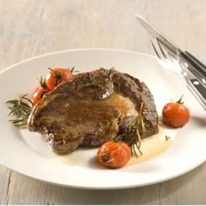 Ribeye Steaks With Seared Cherry Tomatoes and Rosemary