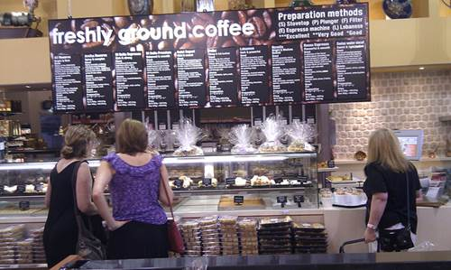 Customers Placing Orders at a Cafe Counter