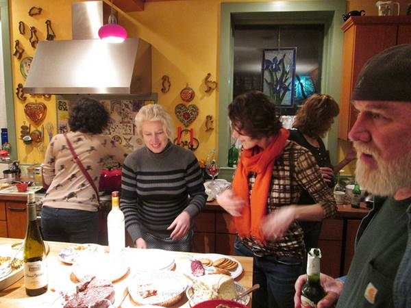 Holiday Party in a Kitchen